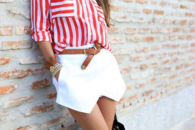 Cupro Skirt - STRIPES & STARS PINK by VIDA VIDA Discount Sast ZK2Fm
