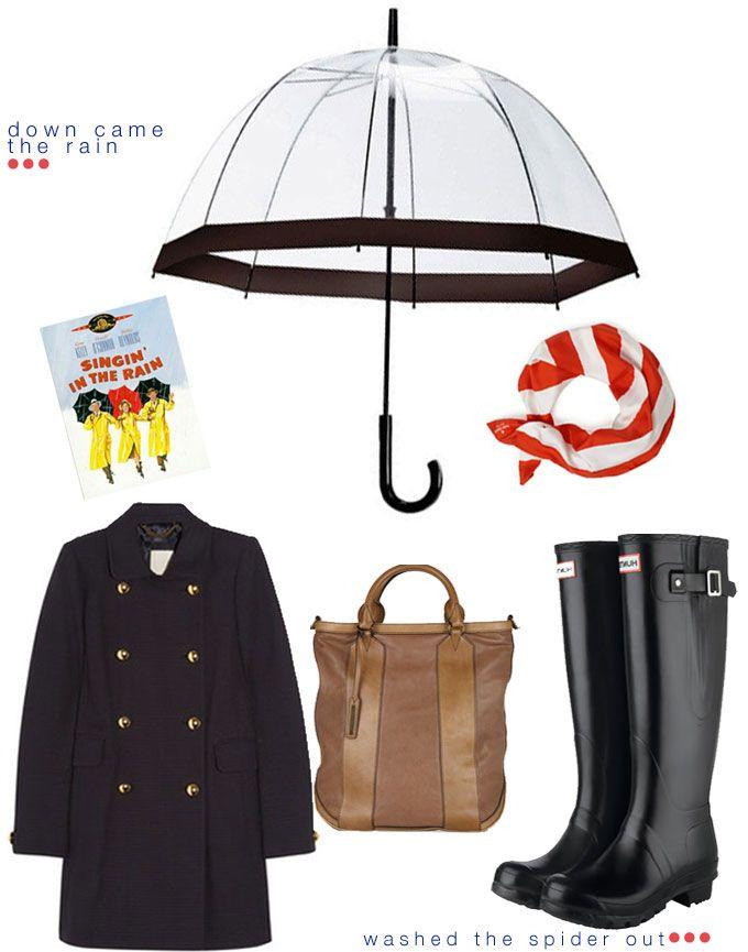 Rainy Day Fashion & Style  Because it's raining today