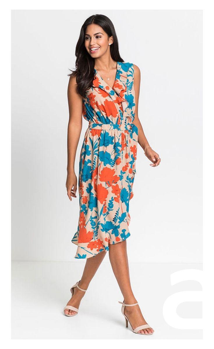 Sukienka Midi Sukienka W Kwiaty Romantyczna Stylizacja Summer Dresses Dresses Fashion