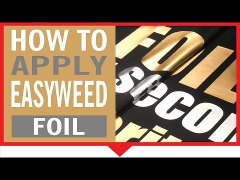 Learn how to apply Siser EasyWeed™ Foil!