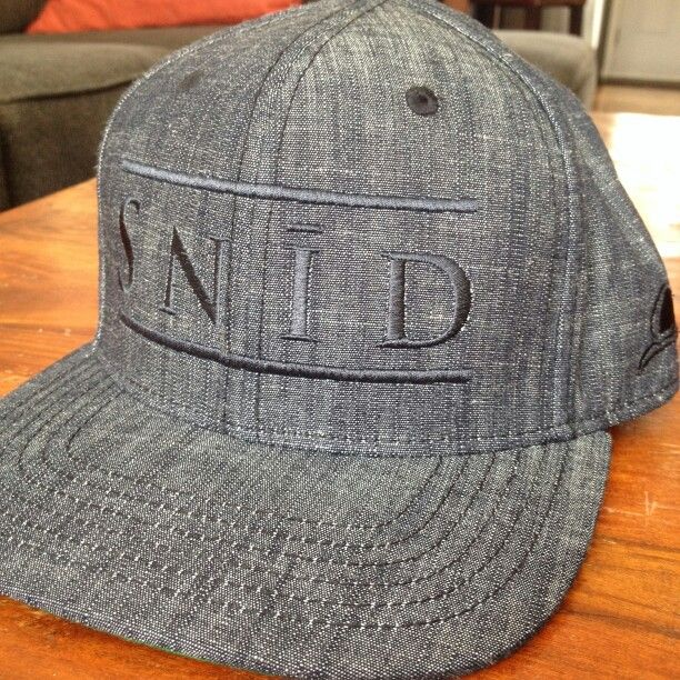 Snid flatbrim snap back. Black Heather. Soon to be available at www.snidclothing.com