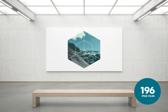 Large Format Geometric Image Masks by Offset on Creative Market