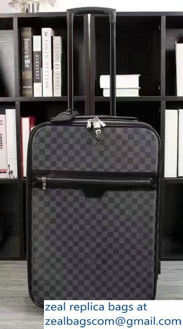 Louis Vuitton Damier Graphite Canvas With Front Zip Pockets Travel Luggage