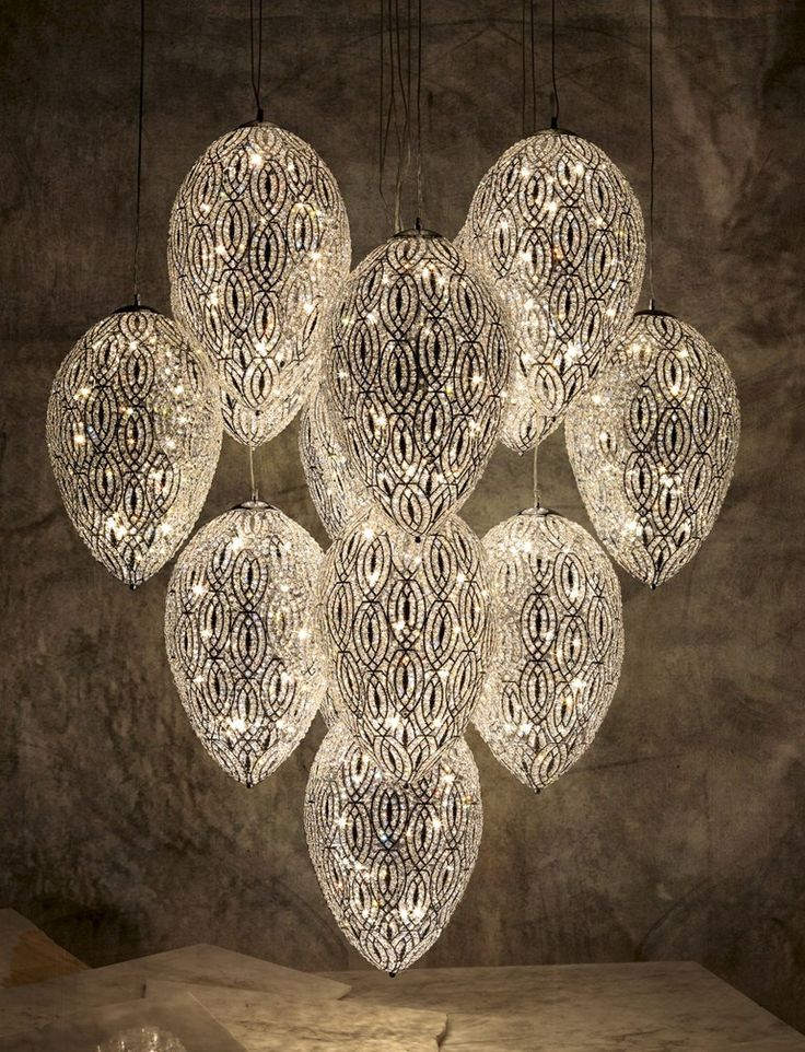 CLICK if you would LOVE to see more tips, tools and resources on creating a memorable experience with the best in #spa & #salon #design.      Glass chandelier EGGS ARABESQUE by VGnewtrend