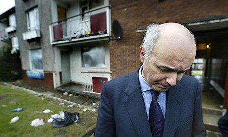 Iain Duncan Smith visiting Easterhouse in 2002: 'In Easterhouse, as everywhere, the bedroom tax causes mayhem. There are no one-bedroom home...