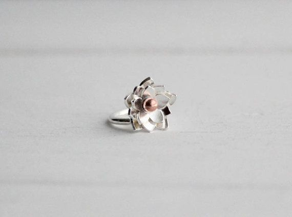 Lotus Cartilage Helix earring, Helix piercing, Sterling silver small Lotus Helix Earring, Gifts under 25, Gifts for her, Stocking stuffers