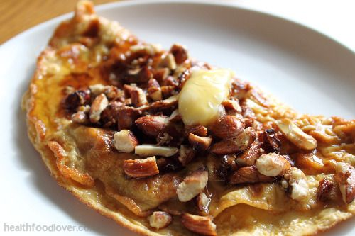 sugar free gluten free Sweet Breakfast omelette with multiple topping options
