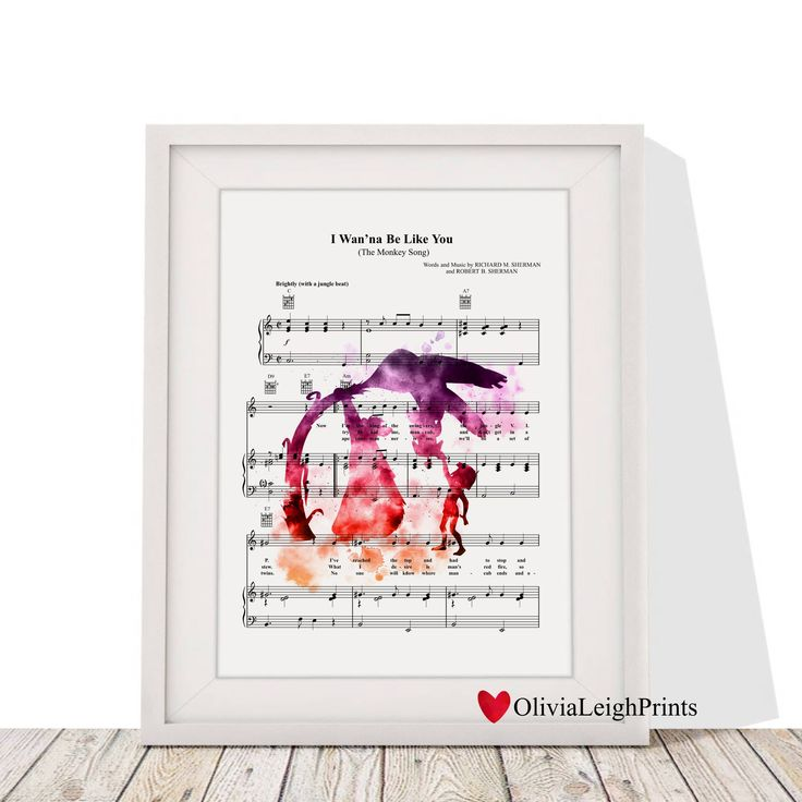A personal favourite from my Etsy shop https://www.etsy.com/uk/listing/575936348/disney-the-jungle-book-music-sheet-print