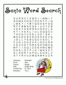 6 Christmas Word Puzzle FREE Printables