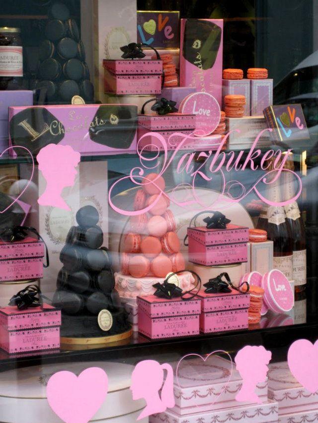 Window Display:Valentine 2010 Ladurée × Yazbukey Shop Window