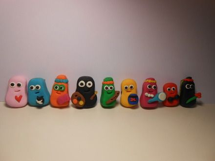 Famille au complet Barbapapa neuf magnets
