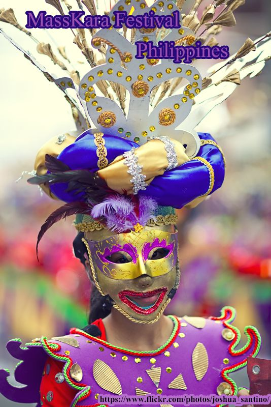The #Masskara #Festival (Hiligaynon: Pista sang MassKara, #Filipino: Fiesta ng MassKara) is a #festival held each year in Bacolod, #Philippines, every third weekend of October nearest October 19, the city's #Charter anniversary.
