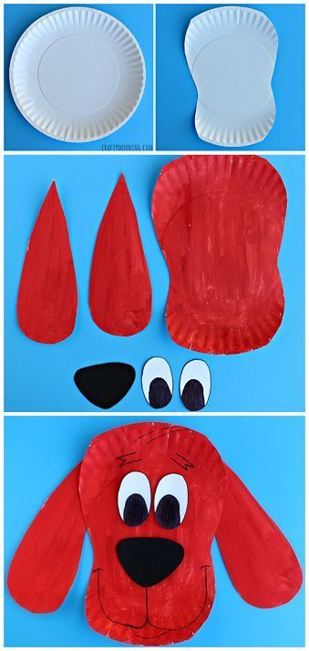 Paper Plate Clifford Craft for Kids - The Big Red Dog Art Project