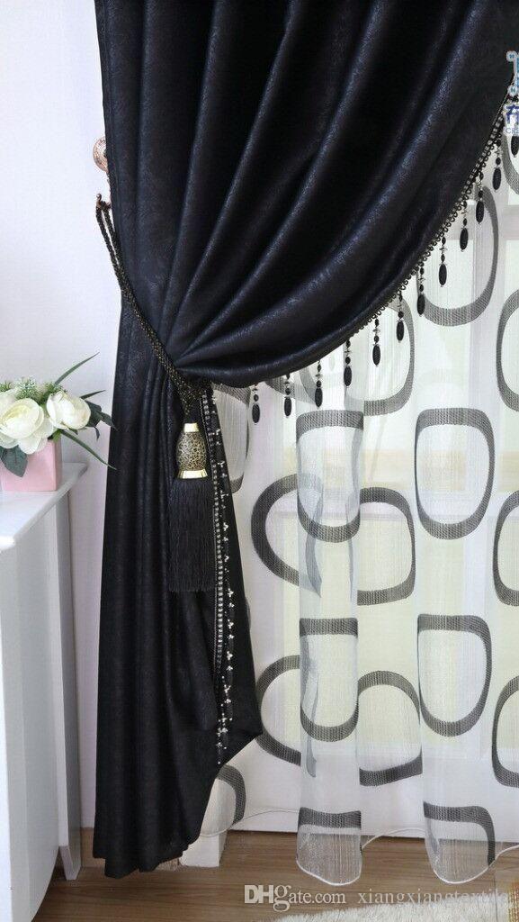 Image Result For Modern Black Velvet Curtain With Images