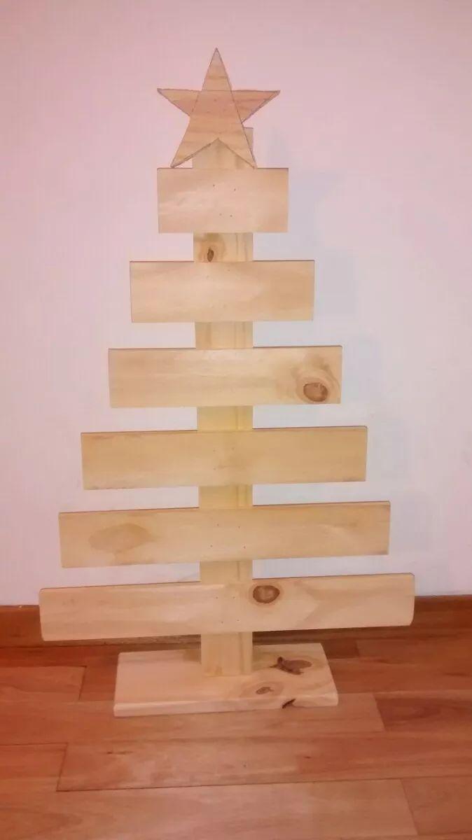 arbolito de navidad de madera para pintar decorar vintage