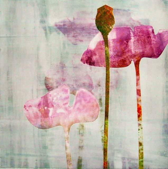 Floral Monotype Series 1/No.20 - Carol Nunan - this is beautiful!