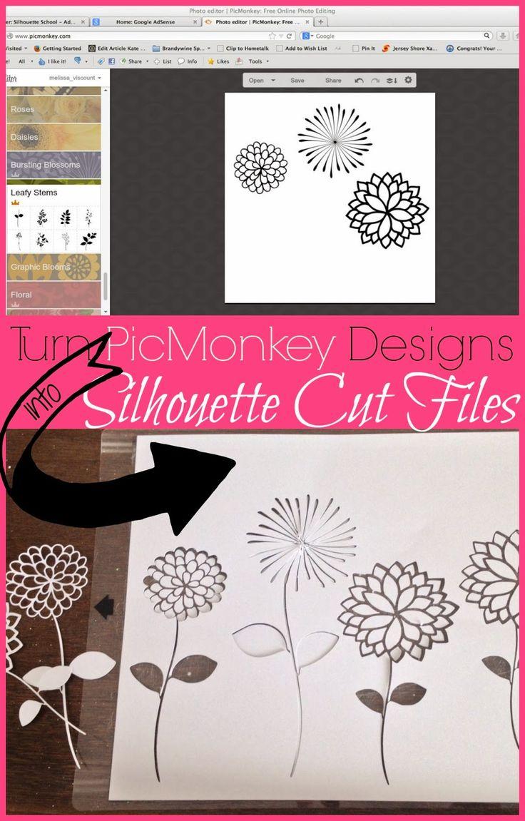 Silhouette School: How to Cut PicMonkey Designs in Silhouette Studio
