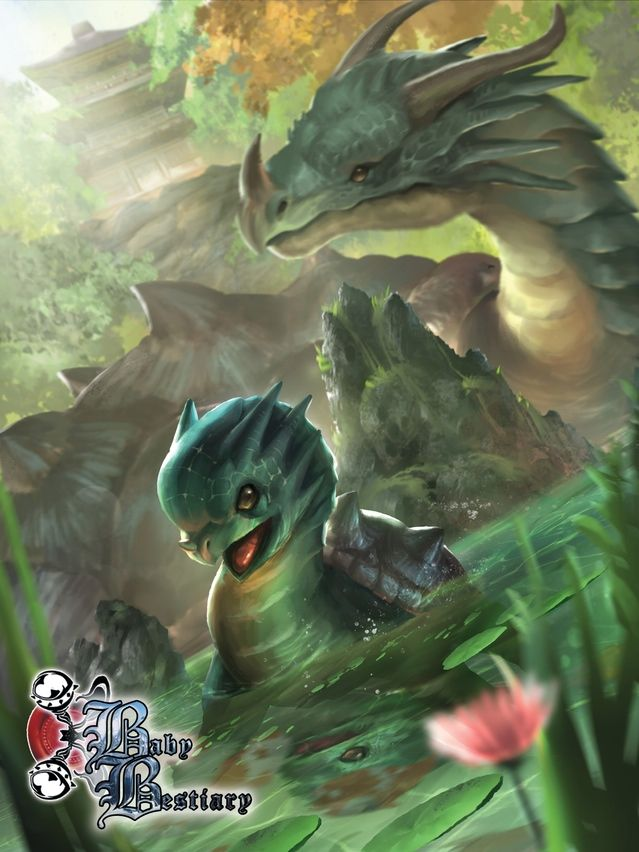 That dragon turtle has an adorable rating only approached by certain Pokemon.  Help fund him!  https://www.kickstarter.com/projects/metalweavedesigns/baby-bestiary-volume-2-and-vol-1-reprint