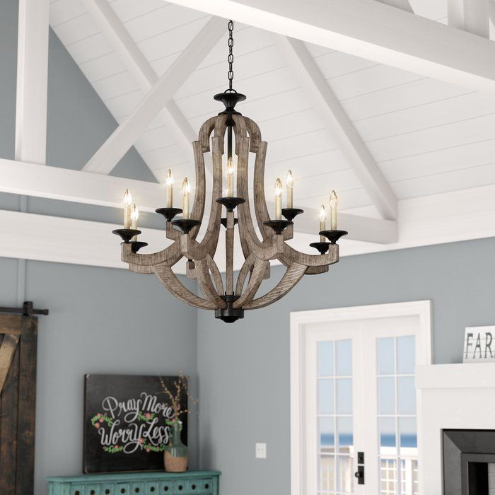 Laurel Foundry Modern Farmhouse Marcoux 12 Light Empire Chandelier Reviews Wayfair Rustic Chandelier Farmhouse Chandelier Farmhouse Lighting