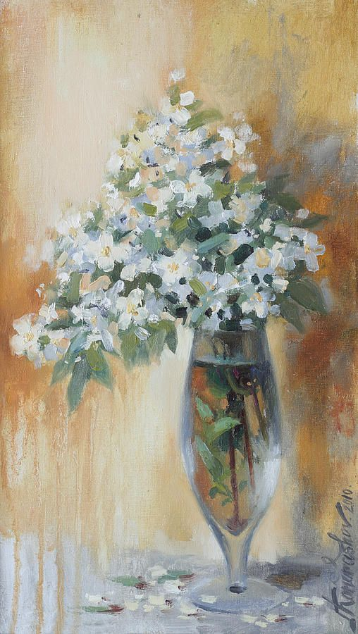 Russian Artists New Wave Painting - Pastel Spring Bouquet by Ilya Kondrashov  #RussianArtistsNewWave #OriginalArtForSale  #OriginalPainting #IlyaKondrashov #FloralPainting #Painting