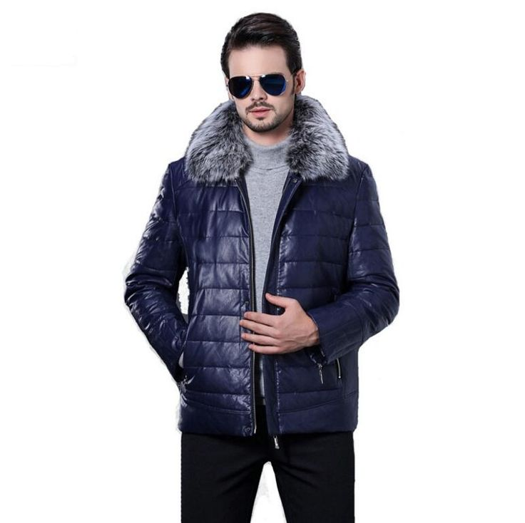 men down jackets winter men fashion leather jacket high quality thicken keep warm sheepskin coat for men motorcycle leather coat