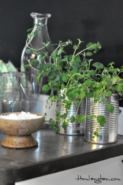 recycled cans ~ so many uses Madam Stoltz