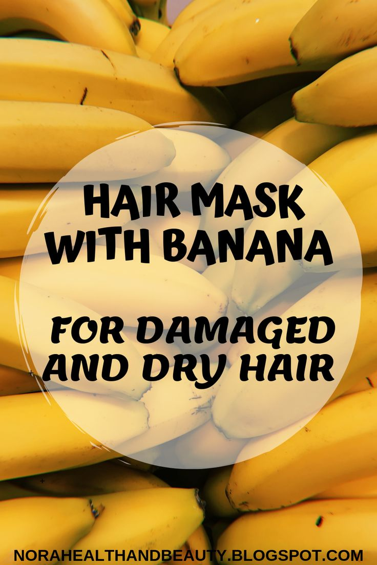 DRY HAIR MASK DIY WITH BANANA RECIPES