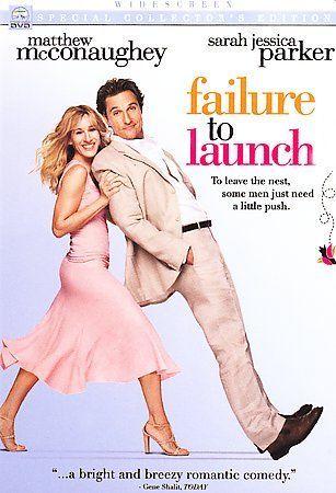 Failure to Launch (DVD, 2006, Widescreen) Matthew Mc Conaughey Sarah Jessica 97363449140 | eBay