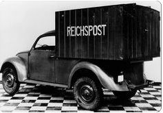 KdF Wagen ♦ Prototype modified for use by the ReichPost (German National Mail). Ca. 1938.
