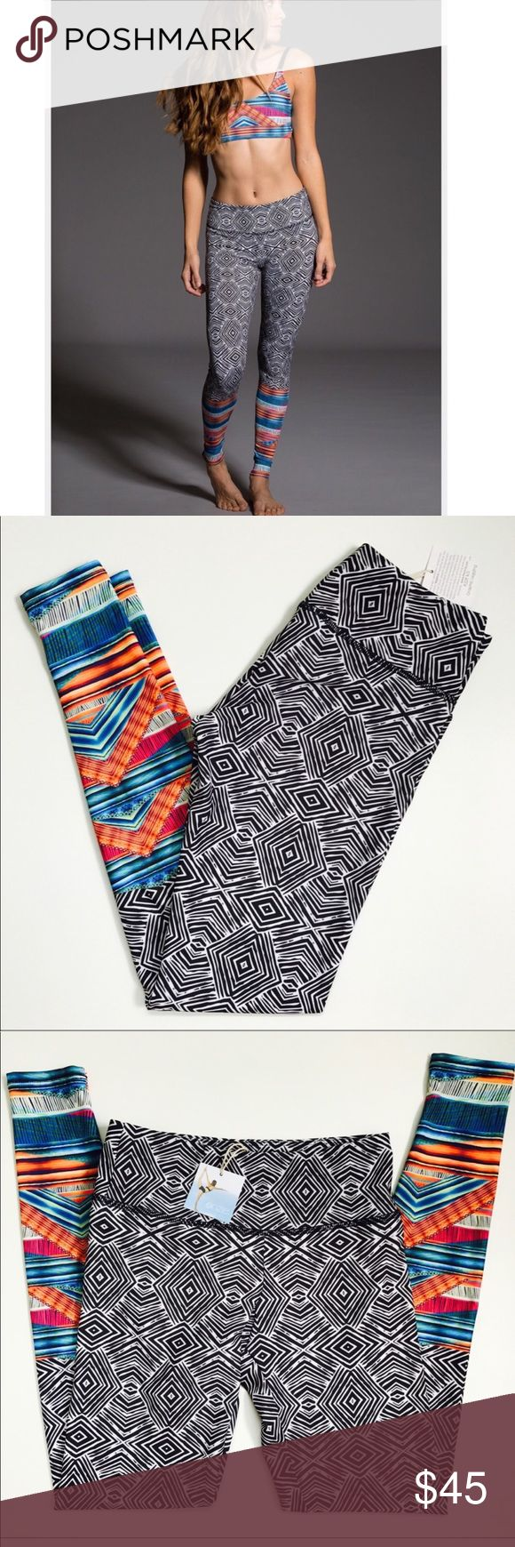 Onzie Tribal print leggings, sz xs s super cool print and comfortable fit. size s xs. very unique look, and hard to find print Onzie Pants Leggings