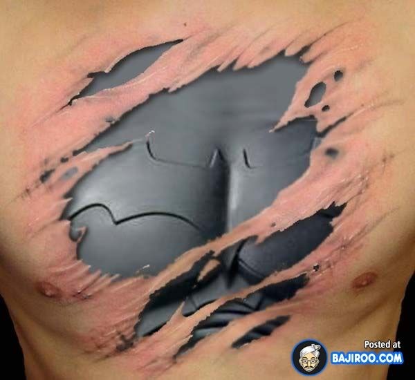 amazing awesome cool latest stylish 3d tattoos design ideas pics images pictures photos beautiful lovely robotic chest 41 Awesome 3D Tattoo Designs