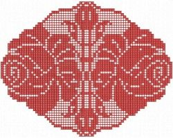 Кружевная салфетка с розами.  #design #embroidery #BroideryRu #BroideryShop #машиннаявышивка #машинная_вышивка #кружево #lace #фриволите