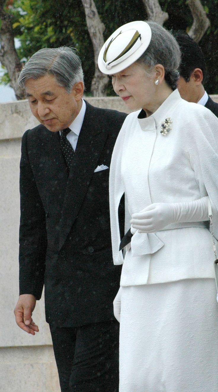 Emperor Akihito and empress Michiko of japan