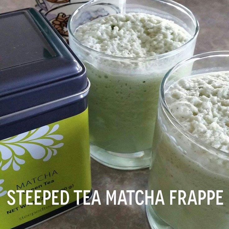 Steeped Tea Matcha Frappe can you say YUM!!  Photo Cred shout out to my girl Kirsten KB