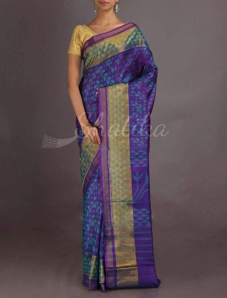 Darshana Royal Purple Contemporary Design #IkatPatolaSilkSaree