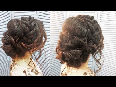 Свадебная прическа,вечерняя,прическа на выпускной. Wedding, evening, prom hairstyle - YouTube