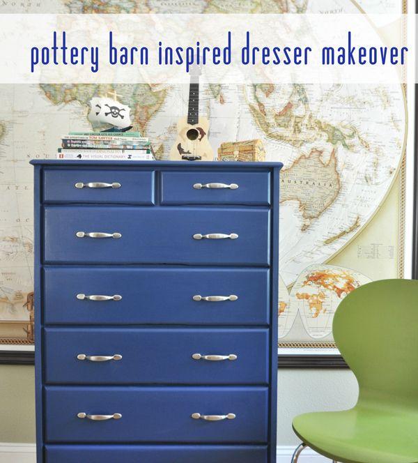 pb kids inspired blue dresser