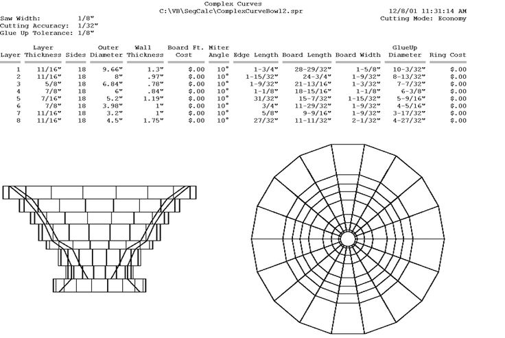 Free Plans Page for Segmented Turning #lathe #woodworking