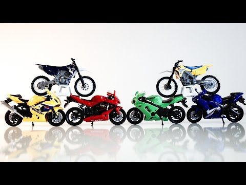 Toy Motorcycle for Kids| Toys & Games Video 오토바이 장난감 놀이 игрушка мотоцикл - YouTube
