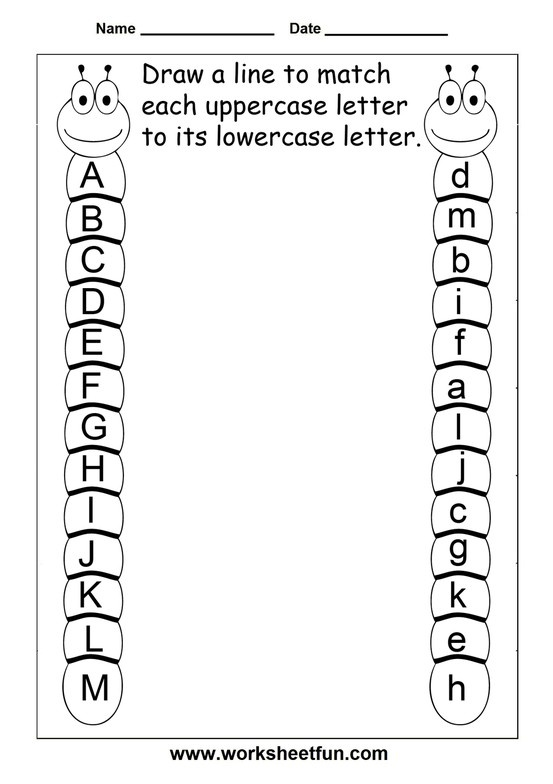 match uppercase and lowercase letters 13 worksheets free printable worksheets