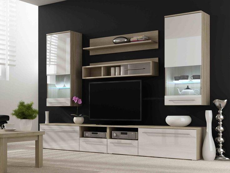 Fernseherwand In Weiss Hochglanz Eiche Modern 9 Teilig Wohnzimmerschrankwohnwandanbauwandwohnwand Modernwohnwand Hochglanzdesigner Wohnwanddesign