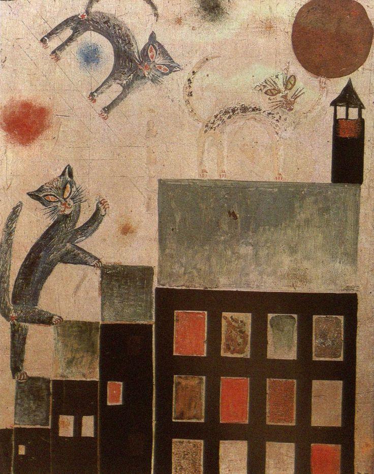 Otto Dix, Katzen (Theodor Däubler gewidmet) [Cats (Dedicated to Theodor Däubler)], 1920