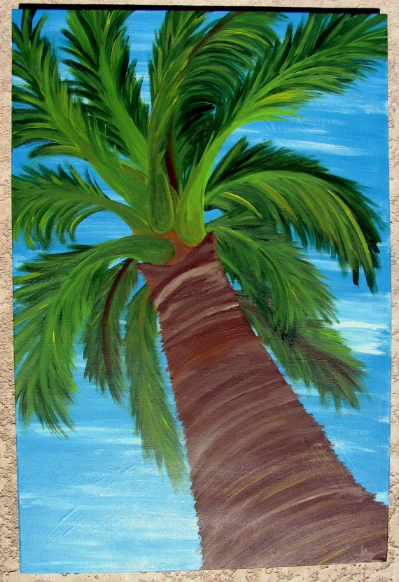 17 best images about palm tree paintings on pinterest for Palm tree painting