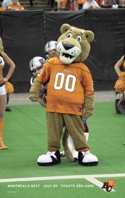 Leo the Lion, BC Lions mascot.