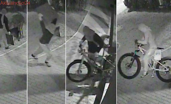 Było ich dwóch, mieli płyty chodnikowe. W 17 sekund ukradli dwa bardzo drogie rowery