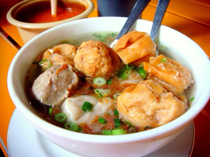 Warm soup of Bakwan malang from Indonesia... just delicious