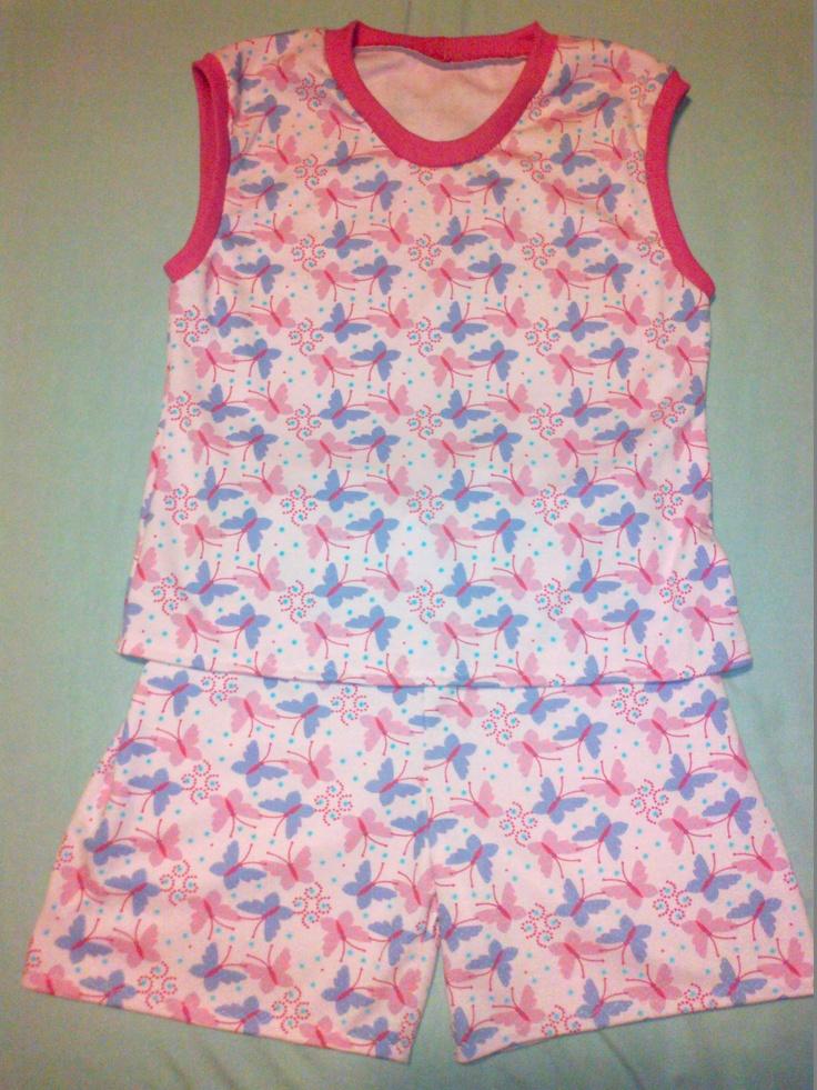 Girl's sleeveless summer PJs (age 11 - 12) - R100.00