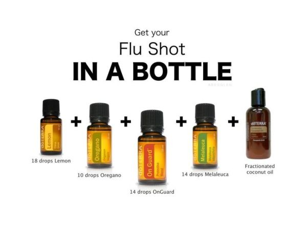 Fill a 1/3 oz. roller bottle or 15ml bottle with:  18 drops Lemon  14 drops OnGuard  14 drops Melaleuca  10 drops Oregano  Fractionated coconut oil   <3 Roll on bottom of feet (enters the blood stream fastest)  <3 Diffuse in the air (smells amazing)  <3 by selina324