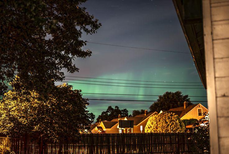 Last night was freakin awesome! New York auroras