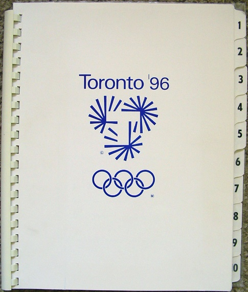 Toronto '96 Olympic Bid Book (Softcover)    Design: Gottschalk+Ash International  Client: Toronto Olympic Committee  Date: 1990